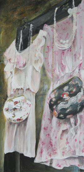 Camden Market / Acryl auf Leinwand 40 x 80