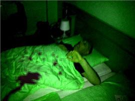 Im Schlaf überrascht...