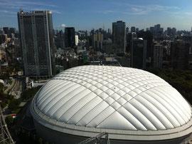 文京区役所のある文京シビックセンター25階から見た東京ドーム