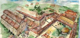 OmoGirando l'Abbazia di San Vincenzo al Volturno - Ricostruzione di una parte dell'abbazia