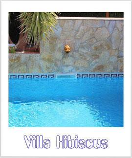Pool der Villa Hibiscus, Bahia Grande, Mallorca