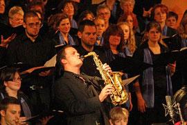 Der Jazz-Saxophonist Lorenz Hargassner (Bild anklicken)