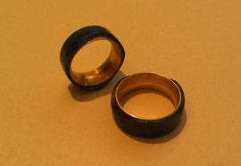 Unsere fast fertigen Ringe