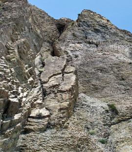 И сам крест на скале