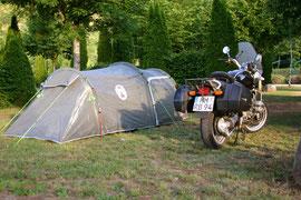 Zelt mit Bike