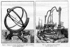 instruments d'observation-sphère armillaire, cercle gradué- du musée d'astronomie Khubilai Khan de Pékin (source: membres.lycos.fr, 2009)