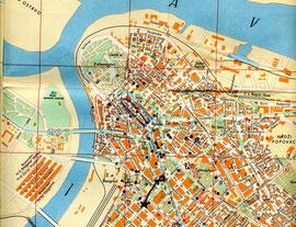 ベオグラードの市街地図