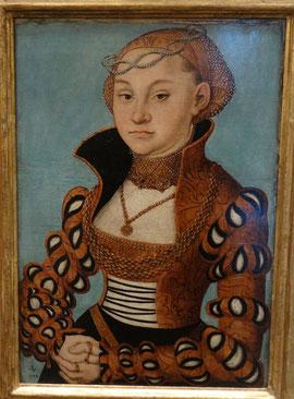 Cranach : Portrait d'une noble dame saxonne