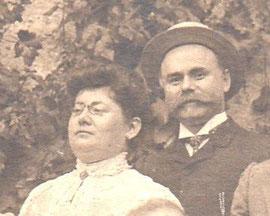 Céline Klein et Paul Kahn (détail de la photo de 1905)