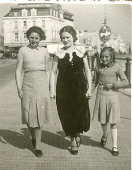Camille avec ses nièces Nelly et Pierrette