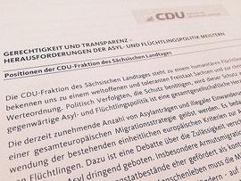Das Asyl-Papier der Fraktion zum Herunterladen (© CDU-Fraktion des Sächsischen Landtages, Pascal Ziehm, 2015).
