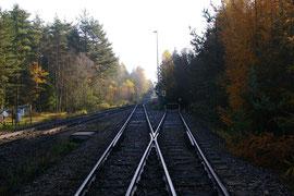 Einfahrt von der ehemals geplanten WAA Wackersdorf Richtung Bahnhof Altenschwand