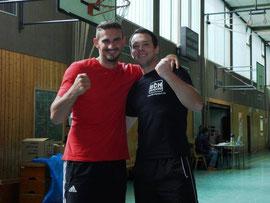 Emir Ahmatovic & Ben Limper bei der Trainerprüfung