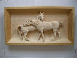 Pferdeschnitzerei Pferderelief