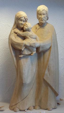 Heilige Familie Holzschnitzerei