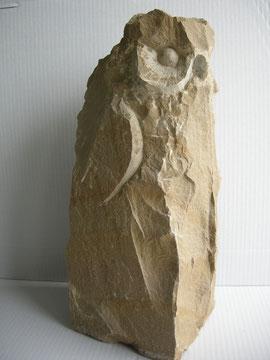 Bildhauer Eule Natursteinskulptur