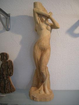 Frauenakt Akt Schnitzerei Skulptur Paul Widmer