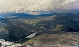Blick vom Gipfel des Storronden