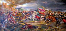 Зборовское сражение (Картина самодіяльного радомишльського художника А.Політа)