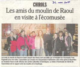 visite des amis du moulin de Raoul à Chirols