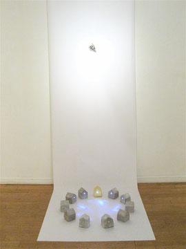 Houses -光- テラコッタ 発光ダイオード 純金箔