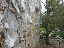 Klettergebiet Benaoján, Sektor La Habitación (Pared de Dandy)