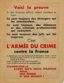 Auteur  Gouvernement de Vichy et autorités allemandes d'occupation 1944.