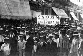 Manifestation de chômeurs en 1933