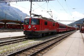 Ge 4/4ll mit Schnellzug in St. Moritz