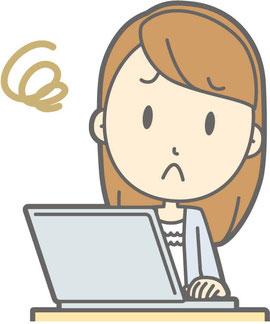 インターネット検索している女性のイラスト
