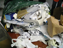 Business paper waste