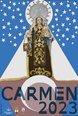 Cartel y programa de las Fiestas del Carmen en Marbella 2015