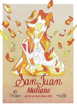 Cartel y programa de las Fiestas de San Juan en Maliaño, Camargo 2015