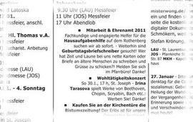 Mitarbeiter und Ehrenamt 2011 -  Wir suchen!