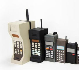 昔の携帯はずいぶん大きかったですね?