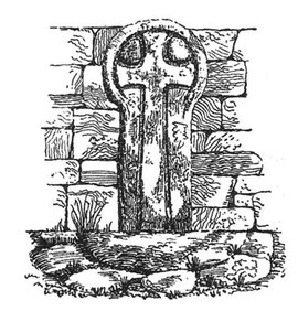 Drawing of the cross at 'Vellensagia'