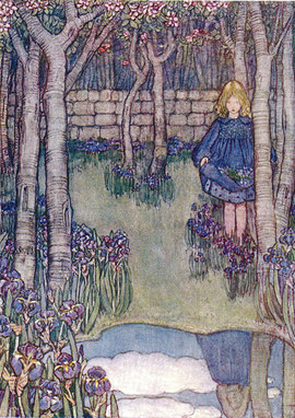 Winifred Cayley Robinson   Irises.  This may well depict Alfred's pond