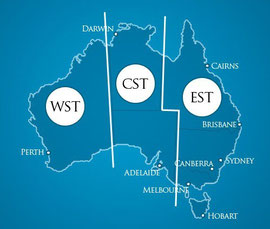 Australiens Zeitzonen