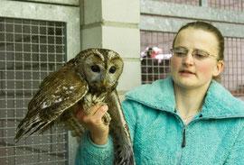 Melanie mit Waldkauz