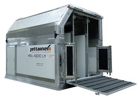 Jettainer's latest innovation – foldable horse stalls  -  courtesy Jettainer