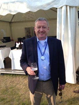 Manager Hans-Georg Emmert of Fraport Cargo Services enjoying a well deserved beer