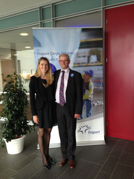 Among the guests welcomed by Anna Smirr of FCS was Gerton Hulsman of DUS Airport Cargo