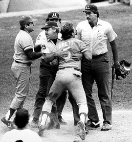 Il prima base George Brett, Kansas City