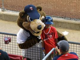TC Bear mascotte dei Twins