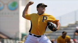 Jasmeson Taillon dei Pirates (Foto di Kim Klement-USA TODAY Sports)