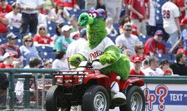 L'incredibile Philly Phanatic, una delle mascotte ancora oggi di maggior successo