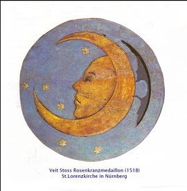 Das Rosenkranzmedaillon Mond von Veit Stoss