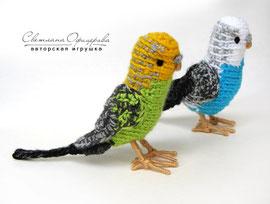 Вязаный волнистый попугай. Автор Офицерова Светлана