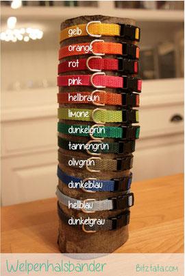 Welpenband-Farben