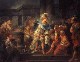 Allessandro Magno taglia il Nodo